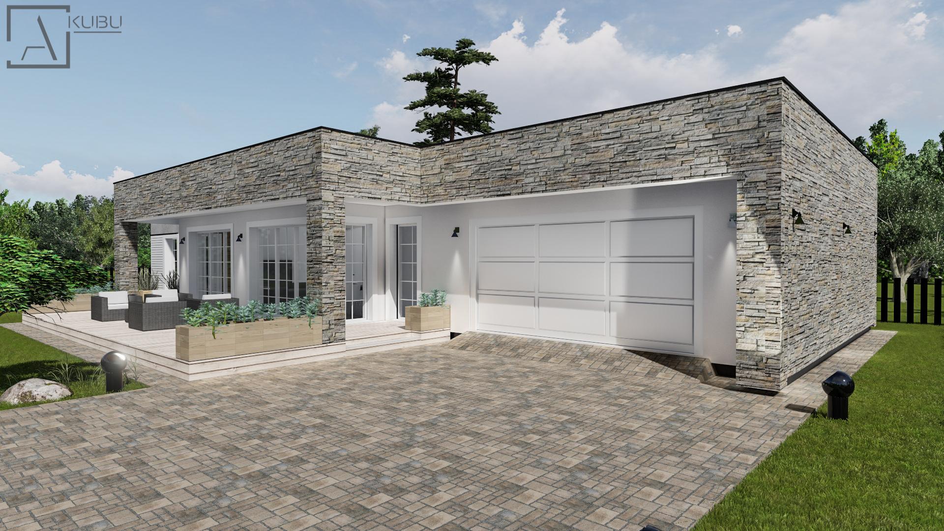 Namas su garažu