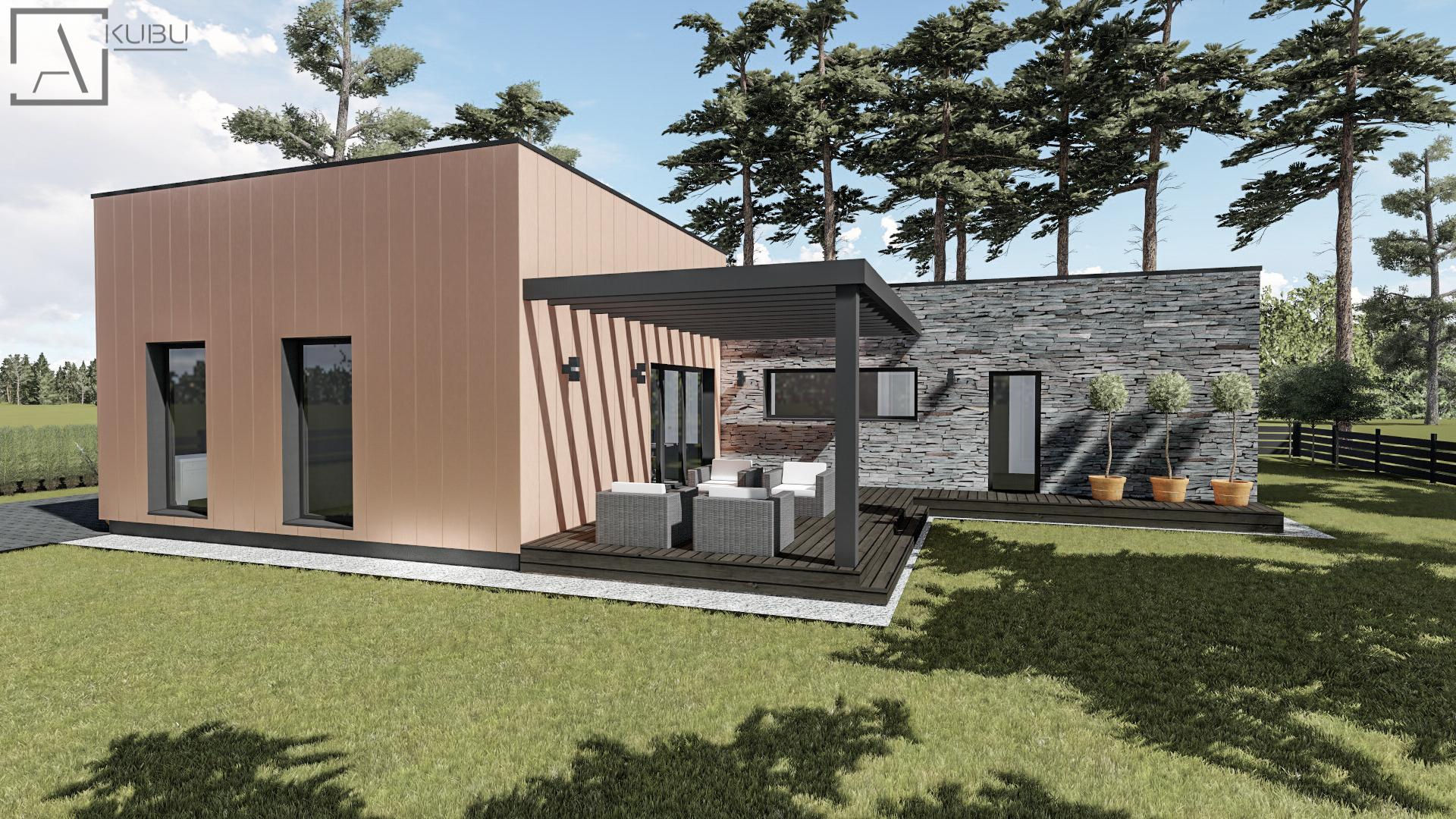 Namo su terasa projektas Plazma