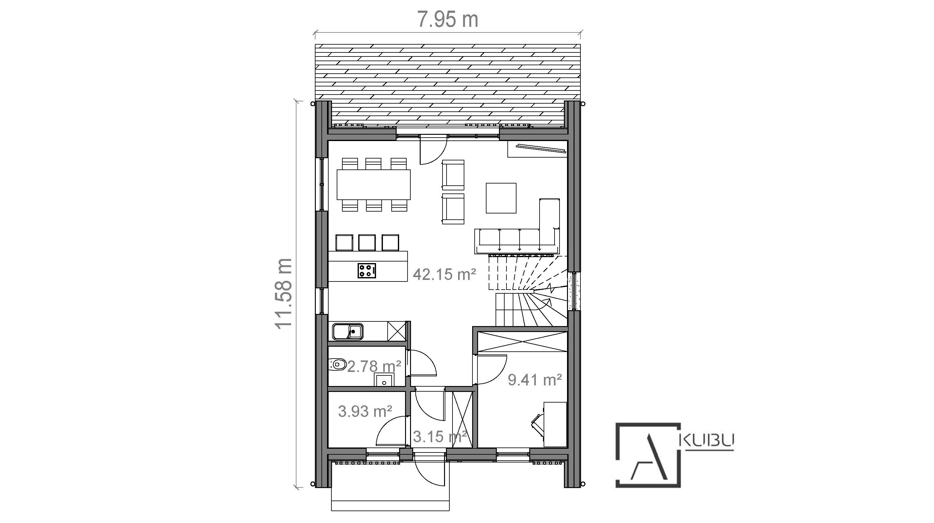 A KUBU namo projektavimas