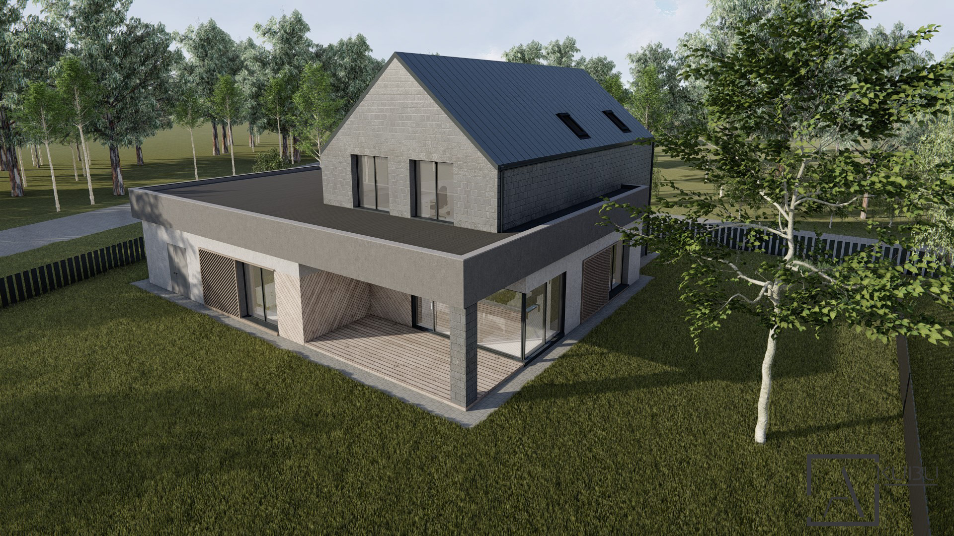 2 aukštų namo projektas