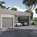 Namas su driviečiu garažu-stogine